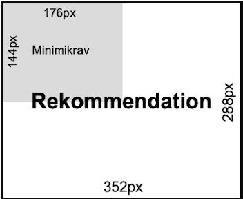 Minimiformatet QCIF motsvarar en fjärdedel av rekommenderade formatet CIF